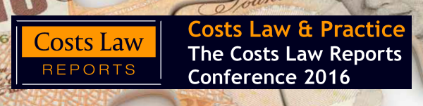 advert for Costs Law & Practice Conference 2016